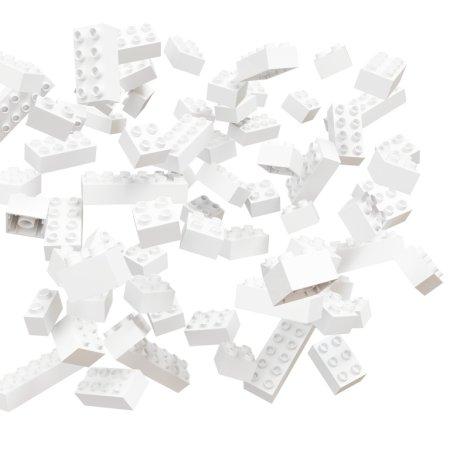 Hubelino Kuličková dráha - kostky bílé - 60 ks