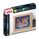 Quercetti Pixel Art 4 Kawaii Unicorn – mozaika z kolíčků