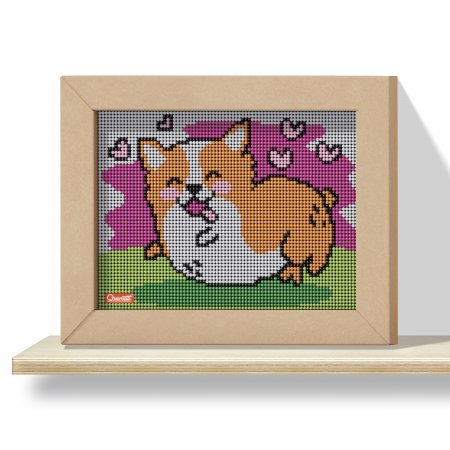 Quercetti Pixel Art 4 Kawaii Corgi – mozaika z kolíčků