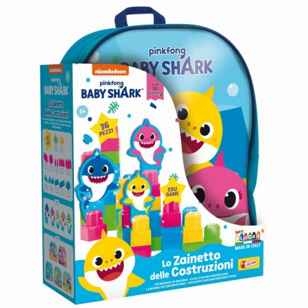 Liscianigioch Baby Shark - Batoh s kostkama Baby Blocks
