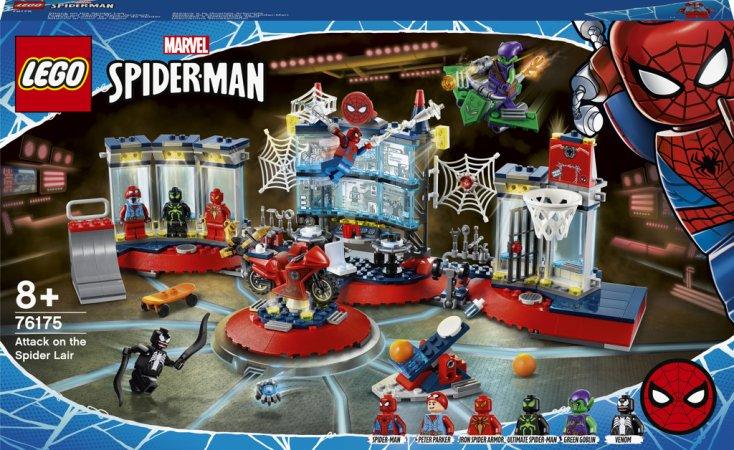LEGO Marvel Spiderman 76175 - Útok na pavoučí doupě