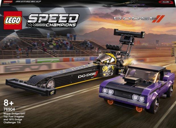 LEGO Speed Champions 76904 - Mopar Dodge//SRT Top Fuel Dragster a 1970 Dodge Challenger T/A