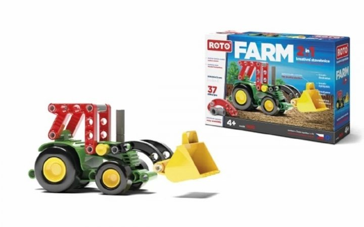 Efko Stavebnice Roto 2v1 - Traktor - 37 dílků