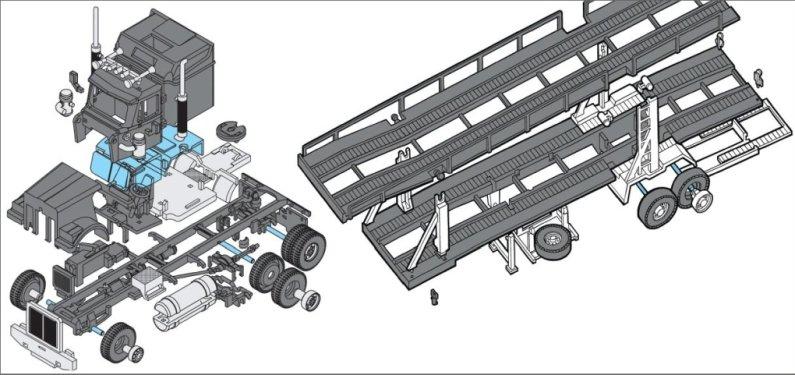 Seva Monti System Western Star - Autorodeo Trailer MS 39