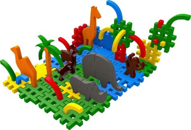 Seva Stavebnice Blok 4 Zoo