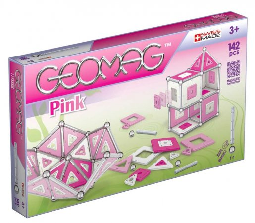 Geomag Stavebnice Pink 142 pcs