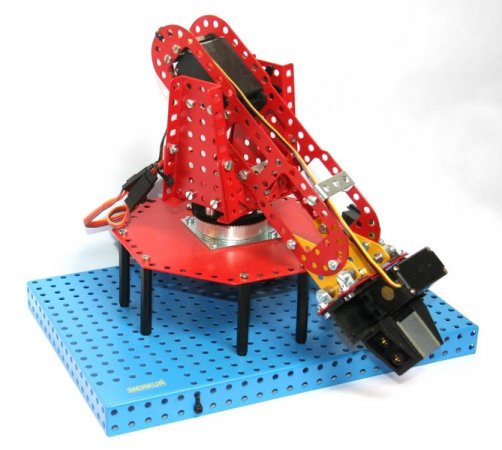 Merkur Stavebnice Merkur - Robotická ruka BETA mini 3° volnosti - bez řízení