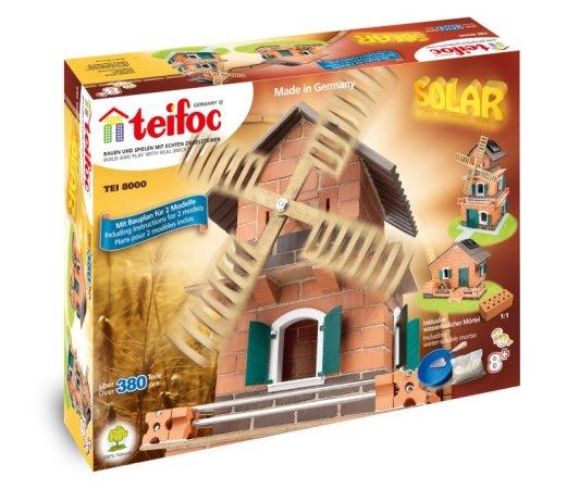 Teifoc Stavebnice Teifoc - Mlýn - solární pohon