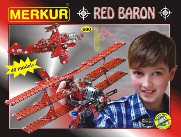 Merkur Stavebnice Merkur - Red Baron - 680 ks