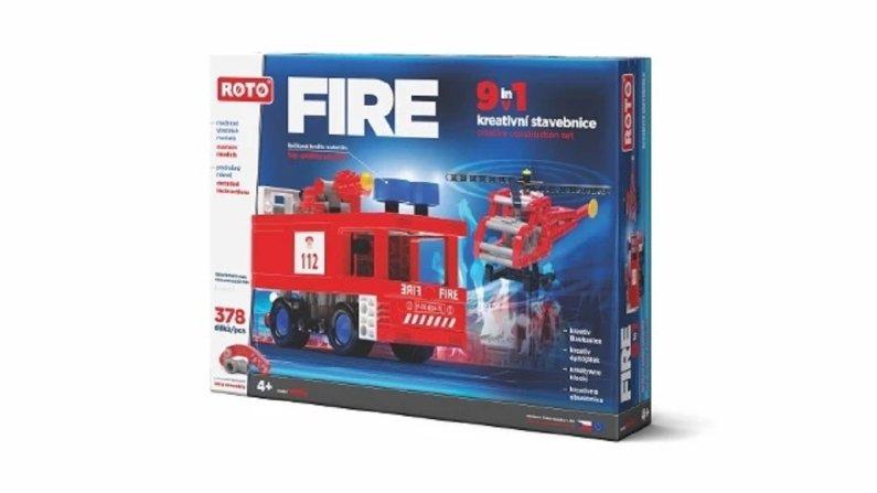 Efko Stavebnice Roto 9v1- Fire - 378 dílků
