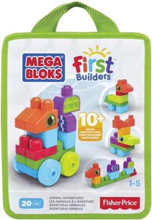 Mattel Stavebnice Mega Bloks First Builders - Zvířátka