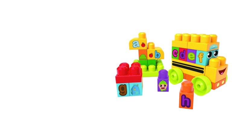 Mattel Stavebnice Mega Bloks First Builders - Školní ABC autobus