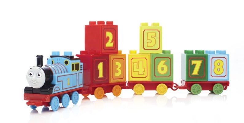 Mattel Stavebnice Mega Bloks - Mašinka Tomáš 123 naučný vláček