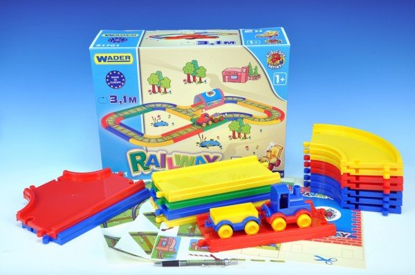 WADER Kid Cars Železnice - 3,1 m