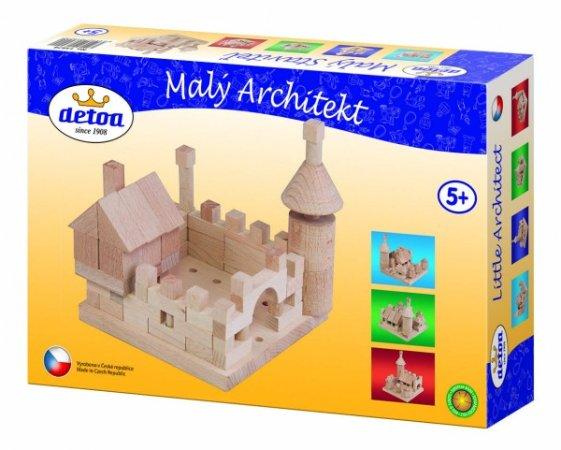 Detoa Stavebnice dřevěná - Malý Architekt - 120 kostek