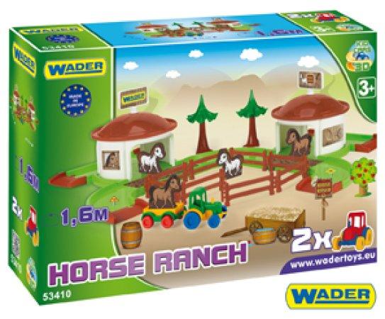 WADER Kid Cars 3D - Koňský ranč s doplňky v krabici