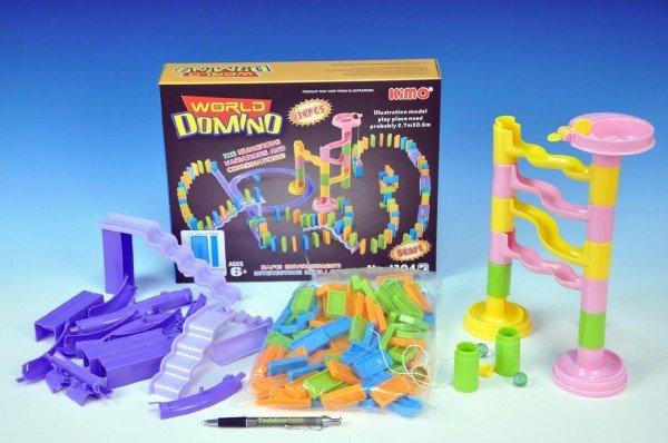 Teddies Domino s kuličkovou dráhou - 134 dílků
