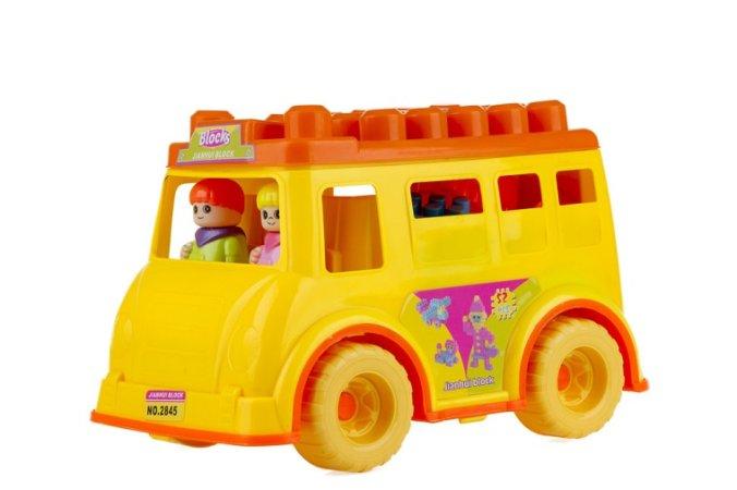 Alltoys CZ Autobus s kostkami - 52 ks