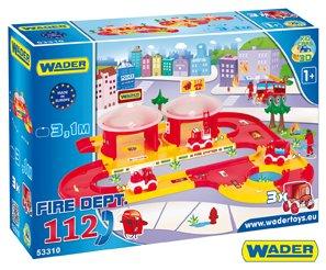 WADER Garáž + dráha Kid Cars 3D hasiči