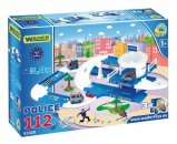 WADER Garáž + dráha Kid Cars 3D policie - 3,8 m