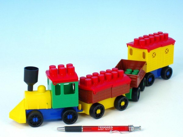 Lori Stavebnice Lori 6 - Vlak a 3 vagónky