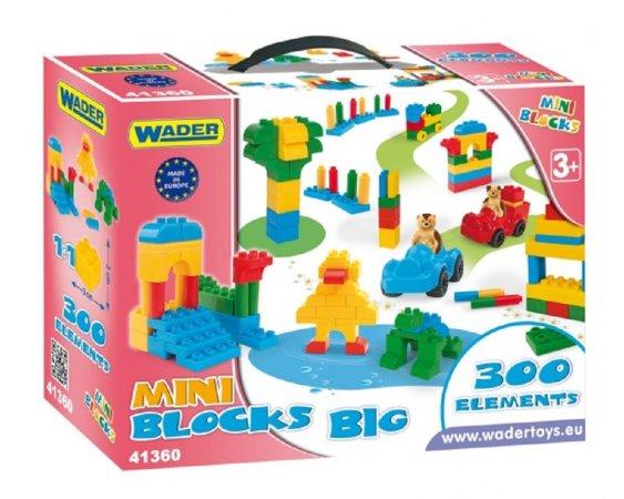 WADER Kostky stavebnice Mini Blocks - 300 ks