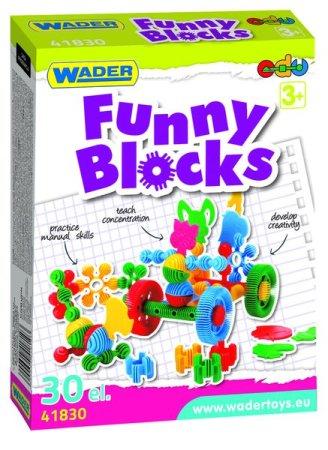 WADER Kostky stavebnice Funny Block - 36 ks