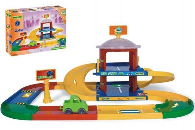 WADER Garáž Kid cars 3D 2 patra