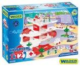 WADER Garáž + dráha Kid Cars 3D nemocnice