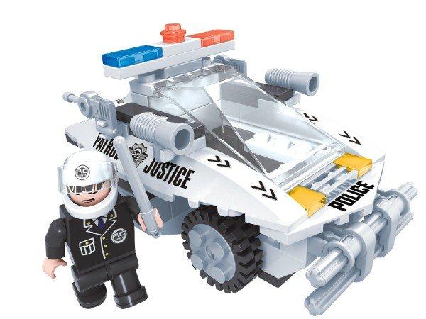 Dromader Stavebnice Policie Auto - 114 ks