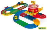 WADER Garáž a dráha Kid Cars přestupní stanice