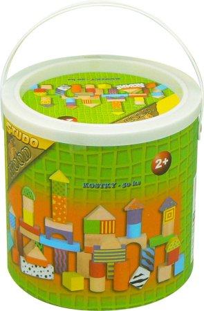 HM STUDIO Kostky - 50 ks v kbelíku