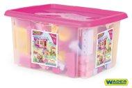 WADER Stavebnice kostky pro dívky - 132 ks
