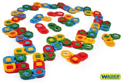 WADER Stavebnice kostky domino - 64 ks