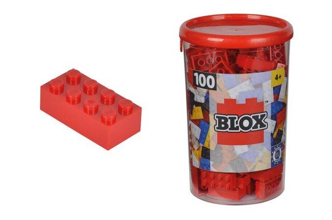 Simba Toys BLOX - Kostičky červené v boxu - 100 ks