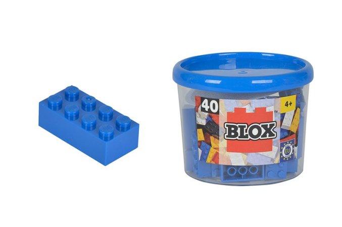 Simba Toys BLOX - Kostičky modré v boxu - 40 ks