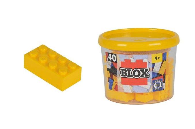Simba Toys BLOX - Kostičky žluté v boxu - 40 ks