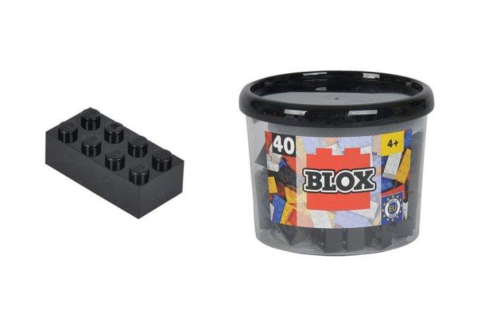 Simba Toys BLOX - Kostičky černé v boxu - 40 ks