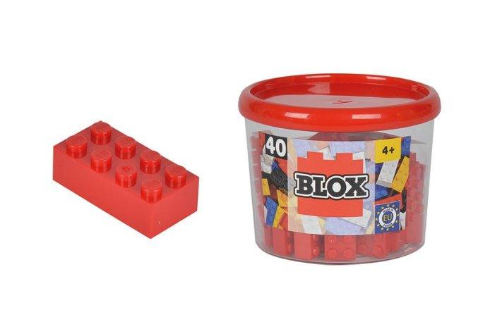 Simba Toys BLOX - Kostičky červené v boxu - 40 ks