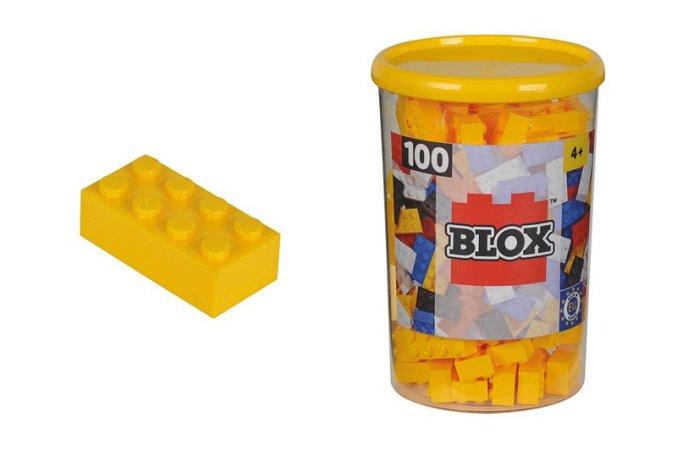 Simba Toys BLOX - Kostičky žluté v boxu - 100 ks