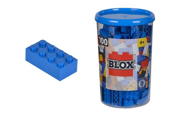 Simba Toys BLOX - Kostičky modré v boxu - 100 ks