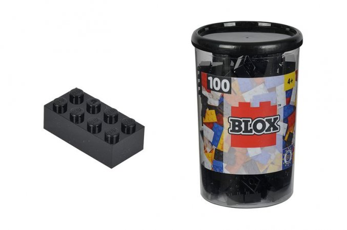 Simba Toys BLOX - Kostičky černé v boxu - 100 ks