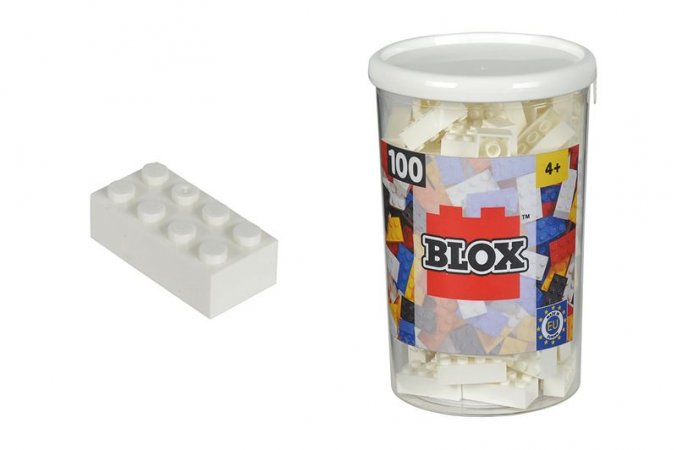 Simba Toys BLOX - Kostičky bílé v boxu - 100 ks