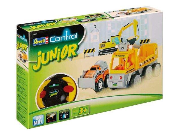 Revell Autíčko JUNIOR - Tow Loader with excavator - 40 MHz