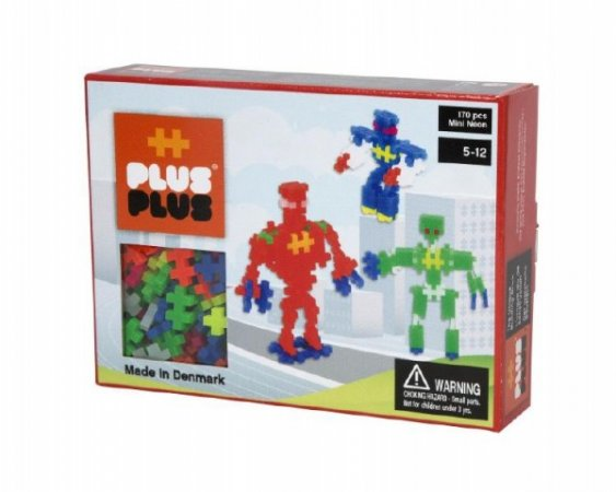 Bonaparte Stavebnice Plus-Plus Mini - Roboti neon v krabičce