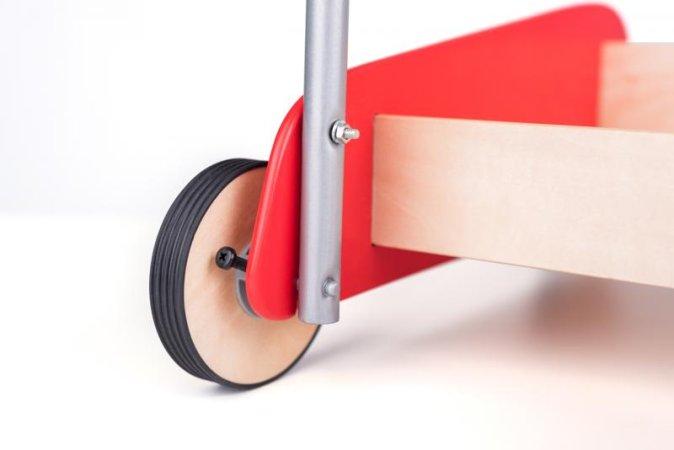 Woody Kovový vozík s kostkami - 50 ks
