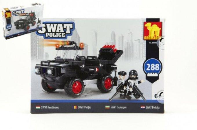 Dromader SWAT Policie auto - 288 dílků