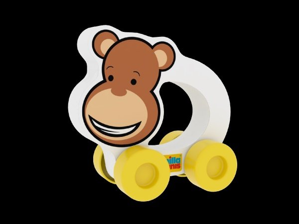 Millaminis Moje první autíčko - Africká zvířátka - Opička