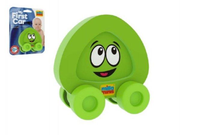 Millaminis Moje první autíčko - Obličeje - Smajlík zelený