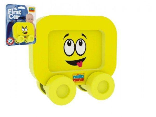 Millaminis Moje první autíčko - Obličeje - Smajlík žlutý
